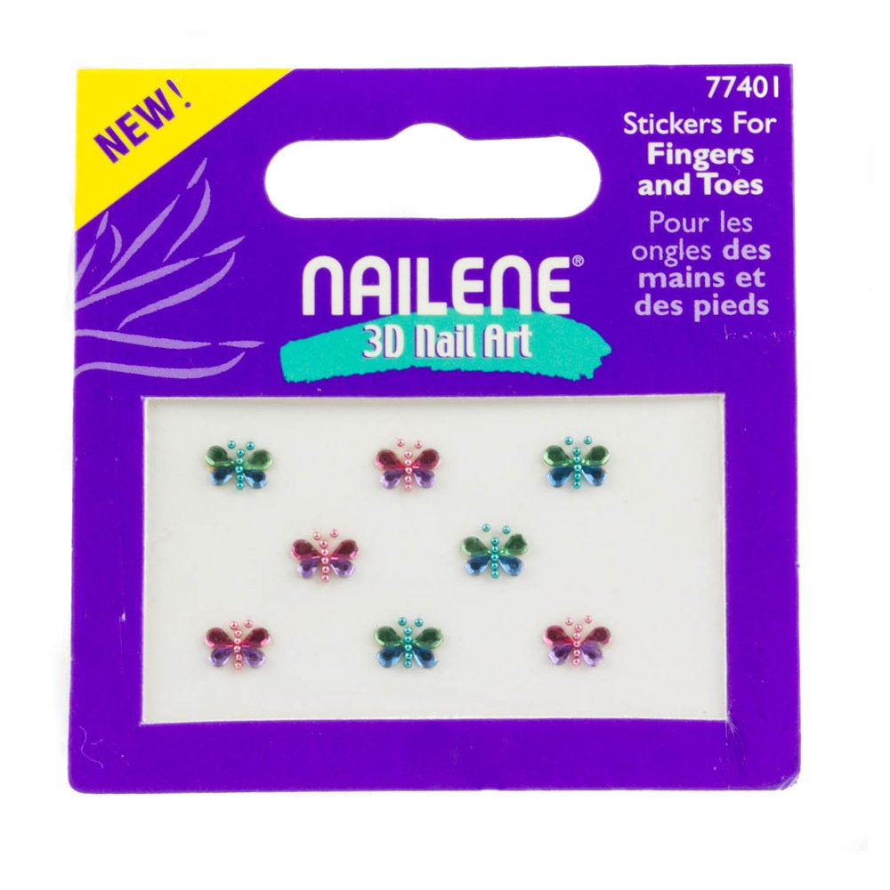 Nailene 3d Nail Art Nail Sticker For Fingers And Toe With Crystal Butterfly Design 3D Design Nail Art Sticker Tip Decal Manicure Nailene Mytoptrendz