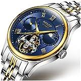 Men's Stainless Steel Sapphire Crystal Wristwatch Tourbillon Automatic Mechanical Watch