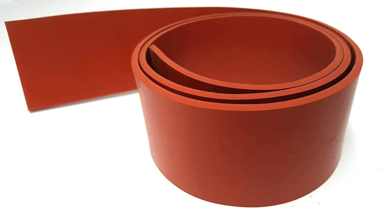 .125 36 x 4 Silicone Rubber Rolls 60A Medium Hardness