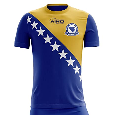 ca7790779dda Image Unavailable. Image not available for. Color  Airo Sportswear 2018-2019  Bosnia Herzegovina Home Concept Football ...