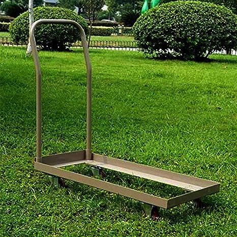 Negro o Marrón Plegable Silla Carro Rolling Push Dolly, marco de acero, capacidad de almacenamiento de grado comercial 50 sillas: Amazon.es: Hogar