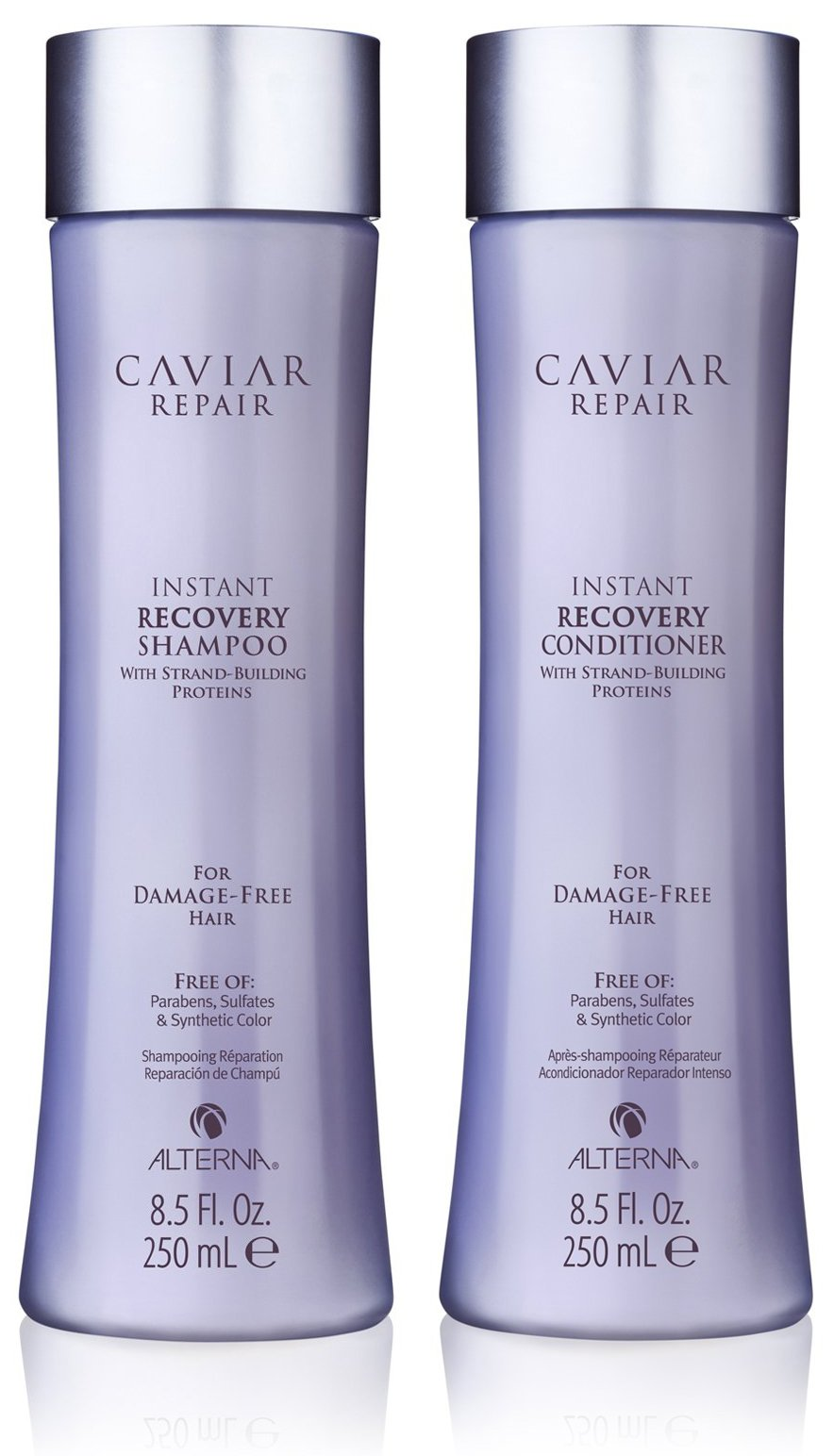 Caviar Repair Rx Instant Recovery Shampoo and Conditioner Set, 8.5-Ounce