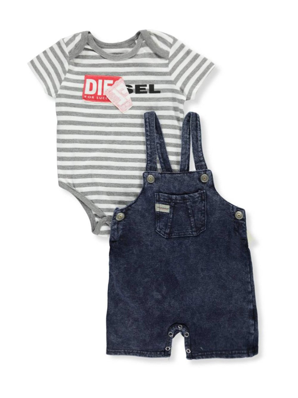 Diesel Baby Boys' 2-Piece Outfit - Navy/White, 12 Months