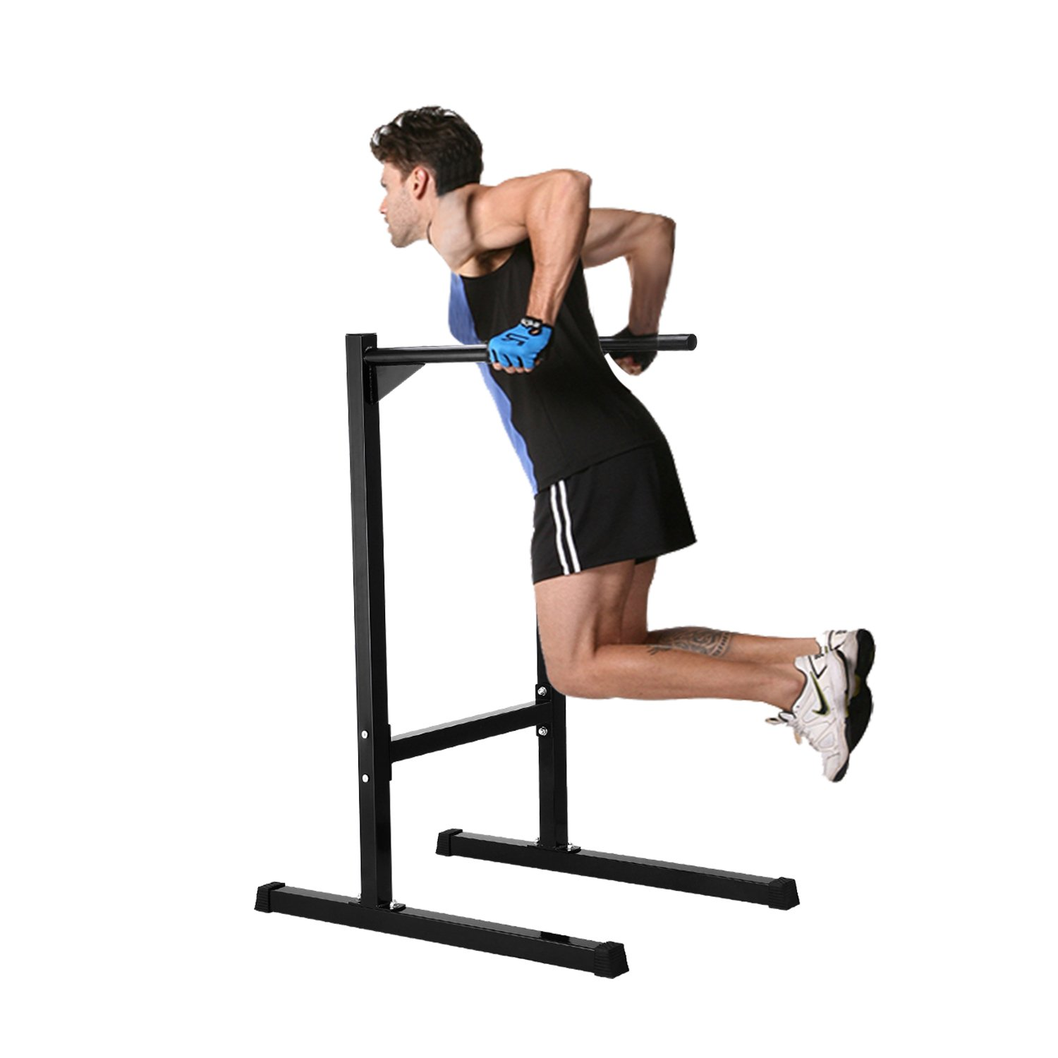 Gym Dipping Parallel Bar Bicep Triceps Barbell Rack Heavy Duty Home ...