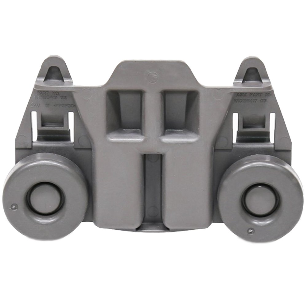 Wadoy W10195417 1872128 Dishwasher Lower Rack Wheels for Whirpool Jenn-Air Kenmore KitchenAid Dishrack Roller WPW10195417 Replacement AP6016764 PS11750057 Bracket Assembly