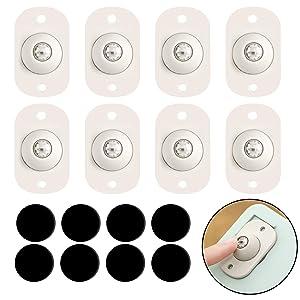 99Langmax Caster Wheels Self Adhesive Swivel Caster Universal Furniture Wheels 360 Degree Rotation Caster for Furniture Storage Boxes Cabinet Drawer Trash Bin 8Pcs