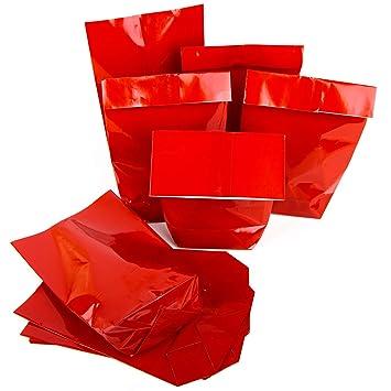 Rojos Bolsa de papel brillante 14 x 22 x 5,5 cm del paquete Regalos