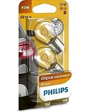 Philips 12498B2 Vision - Bombilla P21W para indicadores (2 unidades)