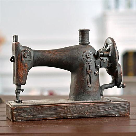 Longless Vintage antigua máquina de coser Modelo Decoración escaparate bar restaurante inicio metal resina decorativos artesanía regalos creativos: Amazon.es: Hogar
