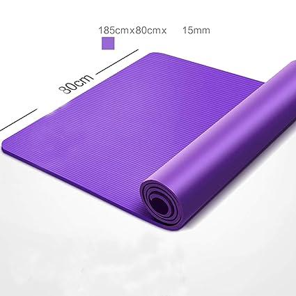 Esterilla de yoga gruesa y delgada, antideslizante NBR sin ...