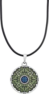 product image for Danforth - Medallion Corded Necklace - Pewter Pendant - Handcrafted - Made in USA