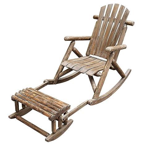 Sillas mecedoras Sillas reclinables de madera maciza ...