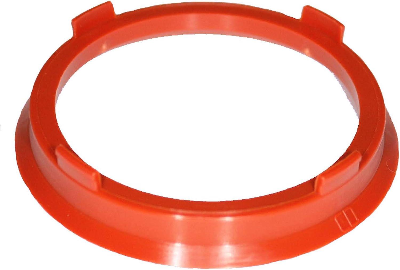 1x Zentrierringe 66 6 Auf 57 1 Mm Rot Zentrierring Rot Adapterring Distanzring Zentrierringe 66 6 Auf 57 1 Mm Auto