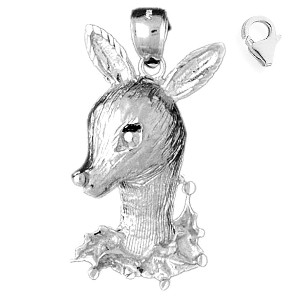Sterling Silver 43mm Deer 7.5'' Charm Bracelet