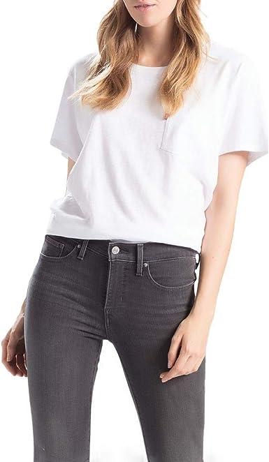 Levis Perfect Pocket Tee Shirt para mujer - Blanco - X-Small: Amazon.es: Ropa y accesorios