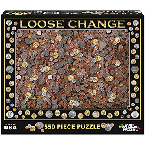 White Mountain Puzzles Loose Change - 550 Piece Jigsaw Puzzle
