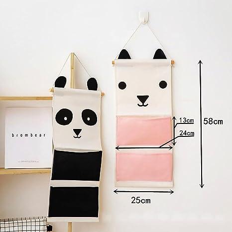 Flower205 Ear Emotion Series - Bolsa de almacenamiento para colgar en la pared (tamaño grande, multifuncional, plegable, para habitación infantil), ...