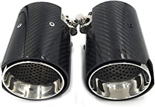 Real Carbon Fiber Exhaust End Pipe Muffler Tip for M2 F87 M3 F80 M4 F82 F83 M5 F10 M6 F12 F13 X5M X6M(70mm inlet)