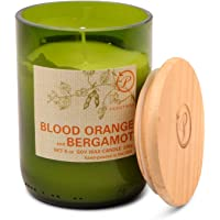 Paddywax Candles Eco Collection Soy Wax Blend Candle in Glass Jar, Medium- 8 Ounce, Blood Orange & Bergamot
