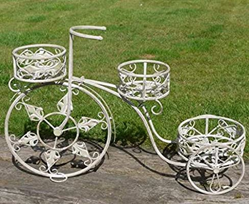 Metal ARF - Maceta de bicicleta vintage adorno en 3 niveles ...