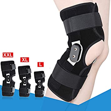 61834c1deb 1PC Hinged Knee Brace Suppor,Aluminium Knee Twin Hinged Support Medical  Grade Breathable Open Patella