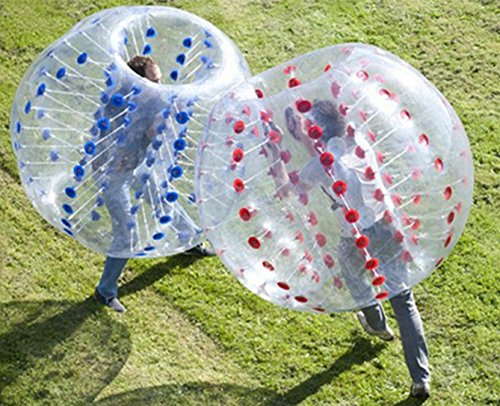 iMeshbean 2 pcs 1.5 M PVC Inflatable Bumper Ball Body Zorbing Ball Zorb Bubble Soccer / Football for Adults and Kids Model#06-07 USA