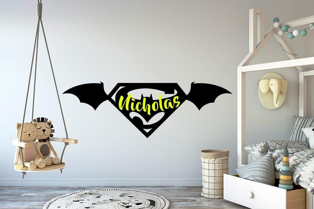 Batman Superhero Personalised Door Sign Wall Plaque for the Bedroom Sign Room Playroom