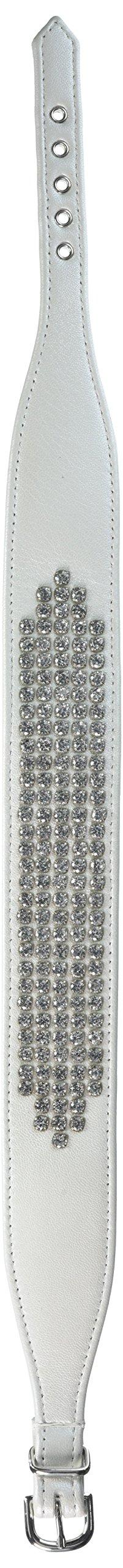 Evans Collars 20'' Lambskin Empress Rhodium Collar, XX-Large, Pearlized