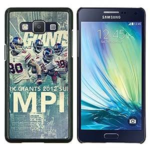 Qstar Arte & diseño plástico duro Fundas Cover Cubre Hard Case Cover para Samsung Galaxy A5 A5000 (Gigantes de Fútbol)