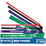 Bear KompleX Workout and Exercise Equipment Resistance Bands: Looped Band for Home Gym Physical Therapy Yoga Crossfit Mobility and Strength Training; Arms and Legs Stretching Loops for Men and Women