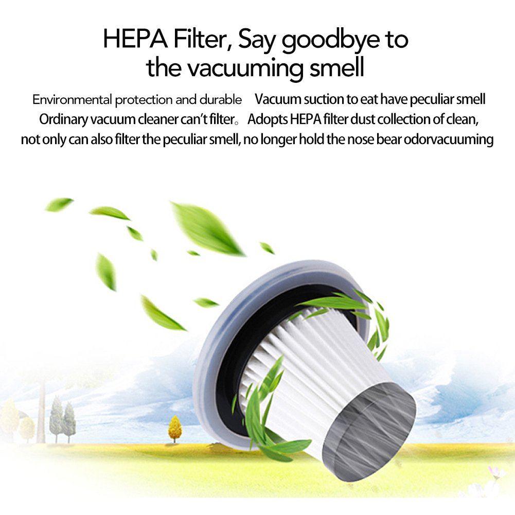 Black Upgraded Version 2 HEPA Filters GPISEN Car Vacuum Cleaner DC 12-Volt 106W 4500PA Suction Wet/&Dry Handheld Auto Vacuum Cleaner One Carry Bag