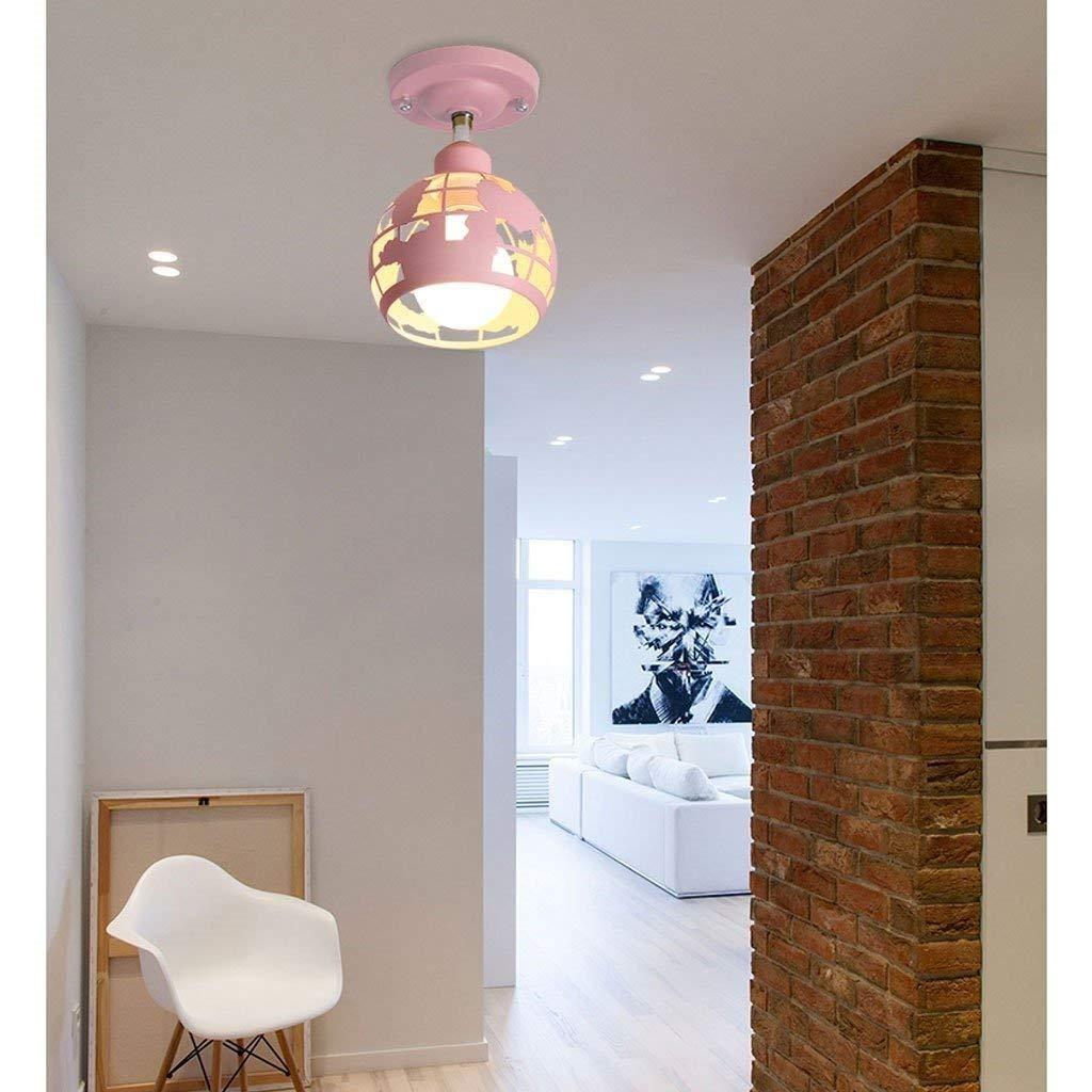 JI Gyy Home Hotel Illuminazione Lampadari Squisita Macarons Corridoio Moderno colore Lampada da Soffitto Nordic Minimalista Studio Creativo Balcone personalità Luce di Soffitto E27