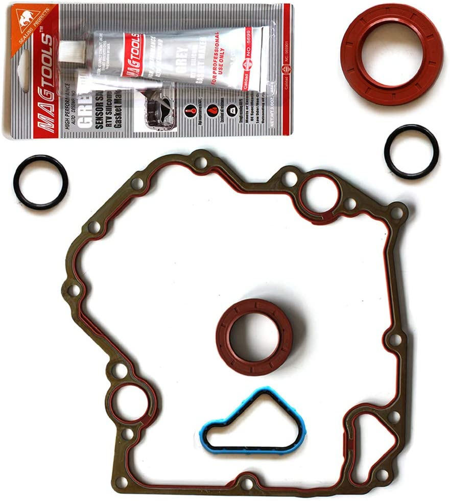 LSAILON Auto Parts TCS46000 Engine Kits Timing Cover Gaskets Sets Compatible with 1999-2012 Chrysler Dodge Jeep Mitsubishi Ram