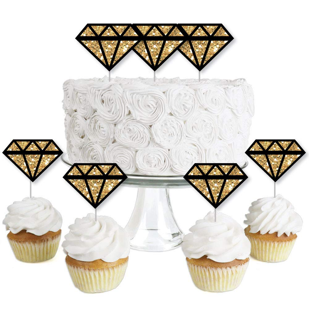 Dessert Cupcake Toppers Bachelorette Party Clear Treat Picks Girls Night Out Set of 24