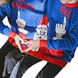 COOKI Two Person Ugly Christmas Sweater Xmas Couples Pullover Novelty Sweaters Sweatshirts Tops Shirt Blouses