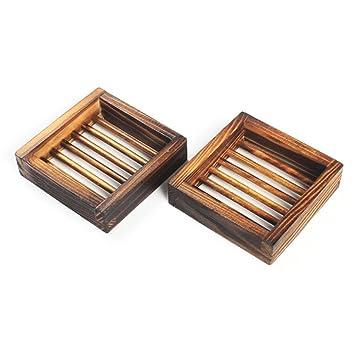 Natürliche Seifenschale aus Holz von SevenMye, Seifenhalter für ...
