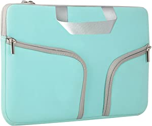HESTECH Chromebook Case, 11.6-12.3 inch Neoprene Laptop Sleeve Case Bag Handle Compatible with Acer Chromebook r11/HP Stream/Samsung Chromebook/MacBook air 11/ Surface Pro3/Pro4, Mint Green