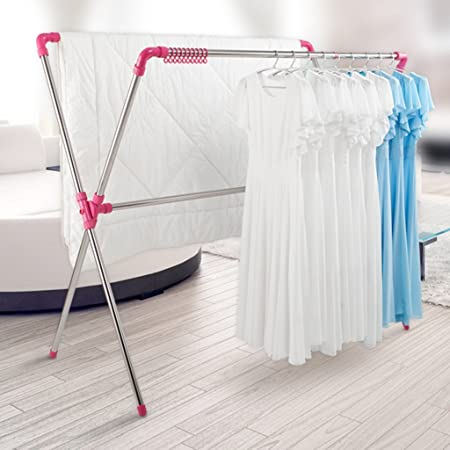 1dca8570b3f7 LXF Drying Racks Multi-function Clothes Hanger X-type Clothes Hanger ...
