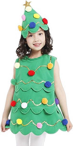 Biwinky Niñas Disfraz Lil Xmas árbol de Navidad disfraz niño ...