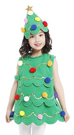 La Vogue Girl Sleeveless Christmas Tree Dress Fancy Dress Costume