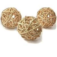10 piezas Bolas de ratán mimbre mesa boda