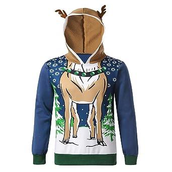 Herren Kapuzenpullover Tops Weihnachtspullover Sweatshirt