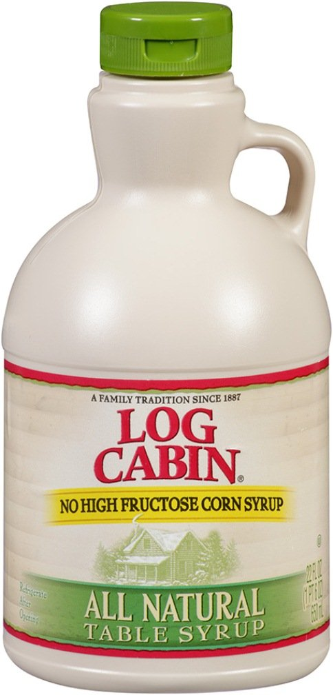 Log Cabin Syrup, All Natural, 22 Ounce (Pack of 8) by Log Cabin