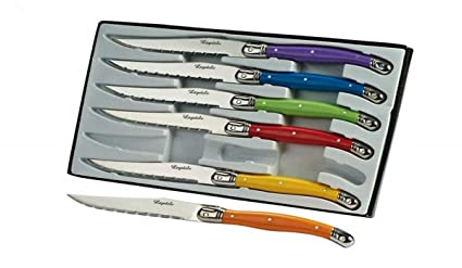 Amazon.com: Pradel Excellence Laguiole Set of 6 Multi ...