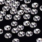 gem 2mm - 1440pcs/lot SS6(2mm) Clear Crystal Flat Back Brilliant Round Rhinestones Glass Stones Glitter Gems (SS6, Clear)