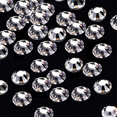 Jewel Craft Glass (Rhinestone 144pcs/lot SS40(8mm) Clear Crystal Flat Back Brilliant Round Glass Stones Glitter Gems (SS40, Clear))