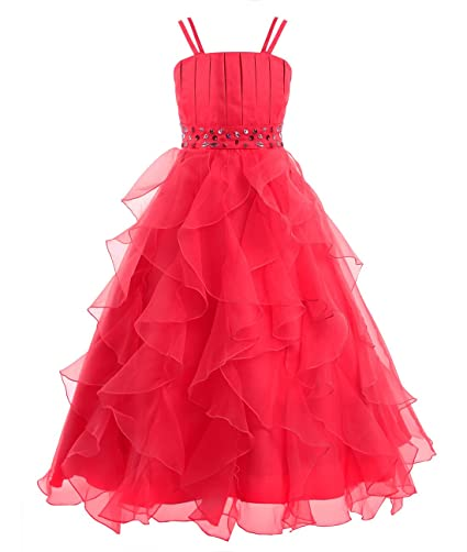 43af7a2bf Freebily Vestido de Gala Vestido Largo Elegante Infantil de Fiesta  Ceremonia Boda Disfraces Princesa para Niña (4 a 14 años)  Amazon.es  Ropa  y accesorios
