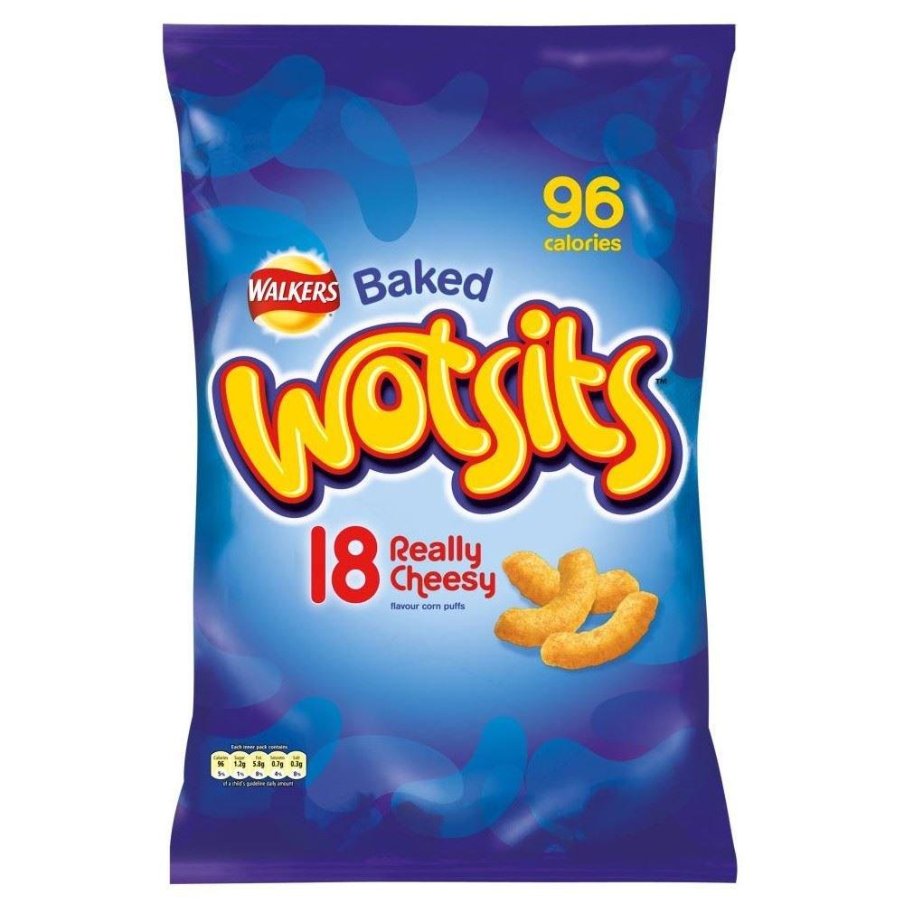 Walkers Wotsits Really Cheesy Corn Puffs (14x17g)