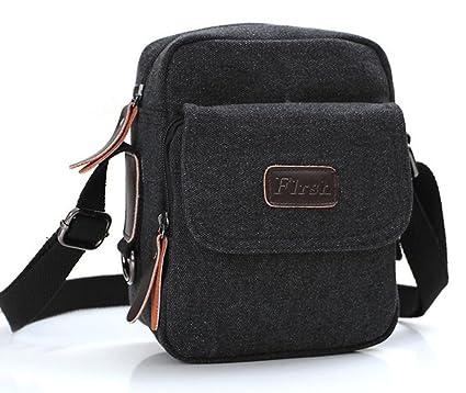 Amazon.com | Flrsh Mens Small Mini Vintage Canvas Shoulder Bag ...