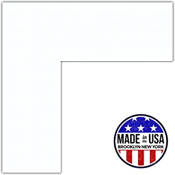 16x22 smooth white super white custom mat for picture frame with 12x18 opening size